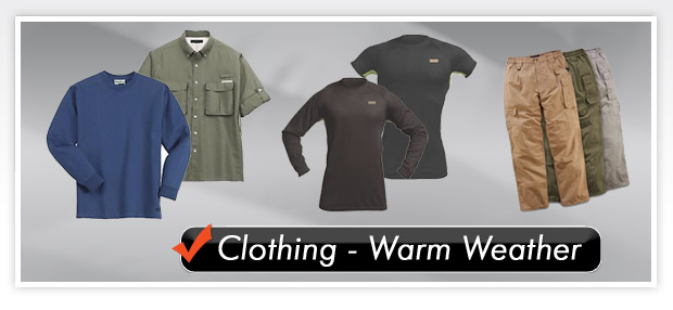 Clothing - Warm Weather